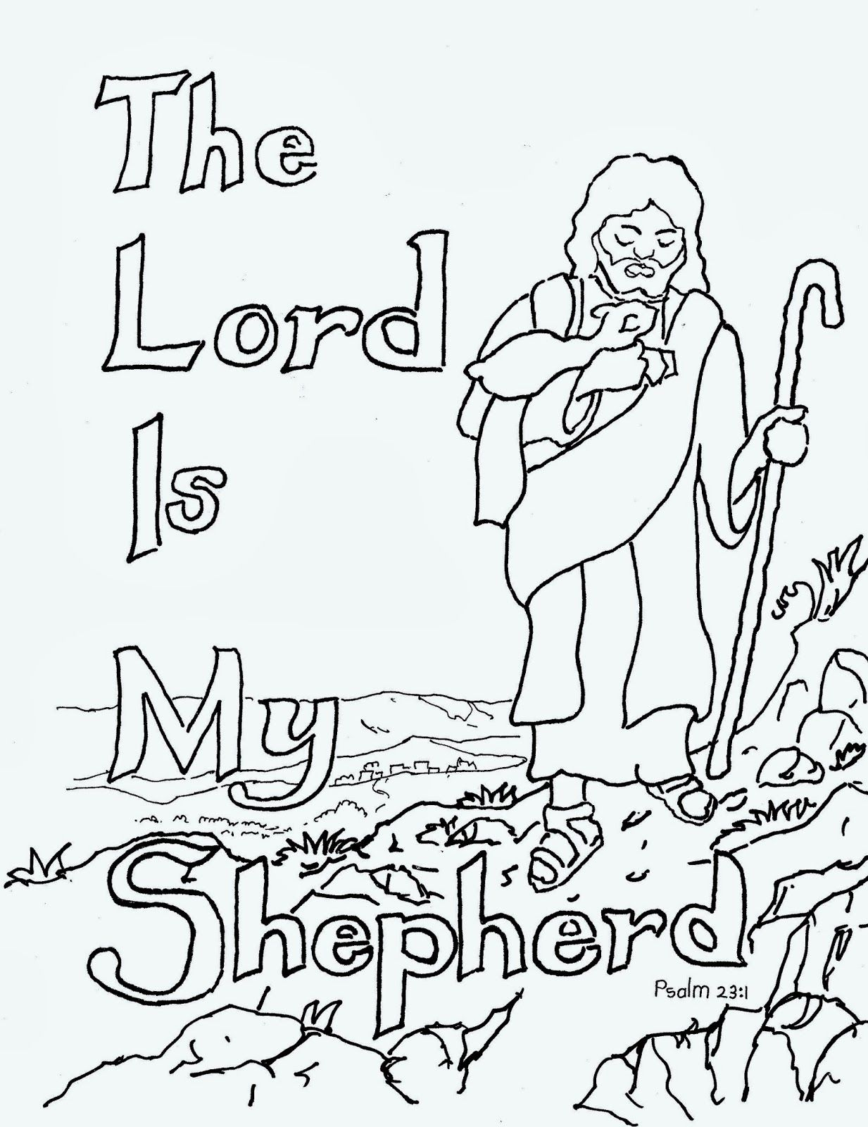 The Lord Is My Shepherd Free Kids Coloring Page Free Kids