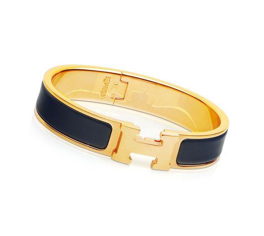 Clic H Hermes narrow bracelet Navy blue enamel   must buy myself for my  birthday, yes, I m thinking ahead! 3b1e562d32e