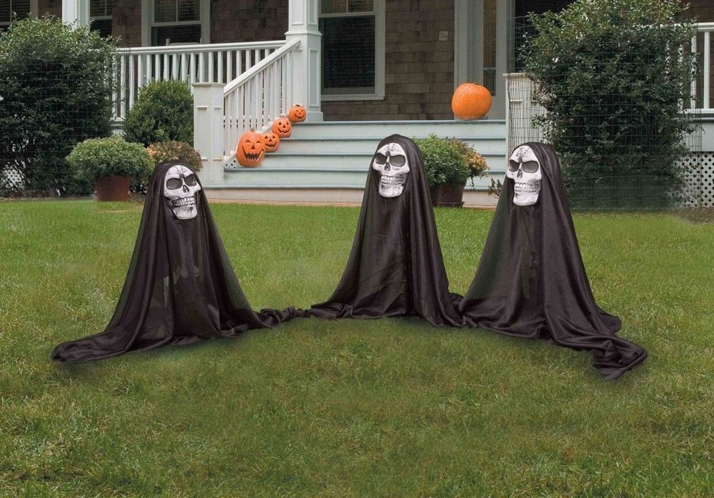 Outdoor Halloween Prop Decoration (Set of 3) Small Grim Reaper Group