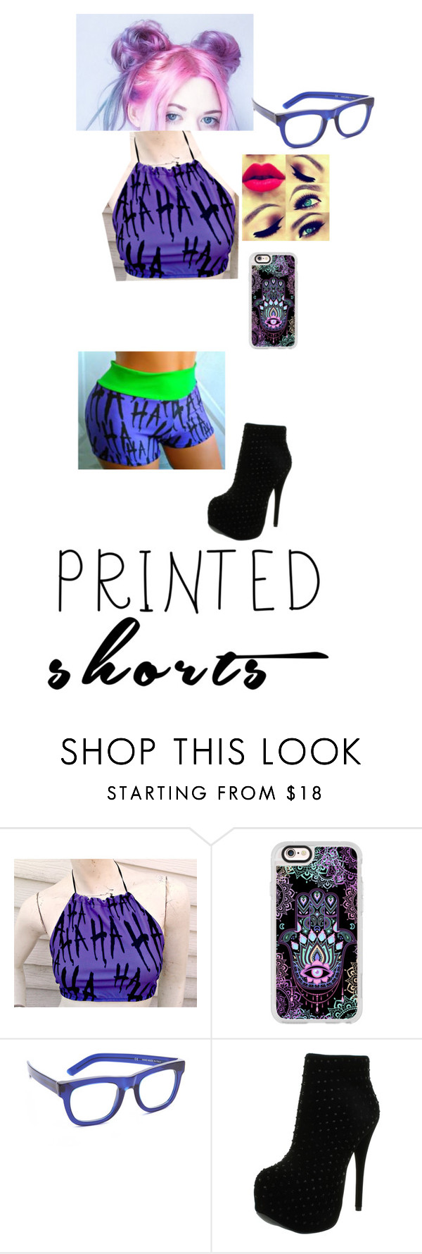 """""""Printed shorts"""" by mad-hatter19 ❤ liked on Polyvore featuring Casetify, RetroSuperFuture and Luichiny"""
