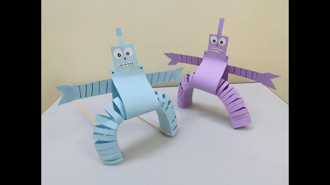عمل رجل الي بالورق للاطفال سهل صنع ريبوت من الورق للاطفال اشغال يدوية Spring Crafts For Kids Crafts Spring Crafts