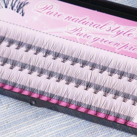 8ba70c1b76f Fashion 60pcs Professional Makeup Individual Cluster Eye Lashes Grafting Fake  False Eyelashes 8/10/12mm Free Shipping
