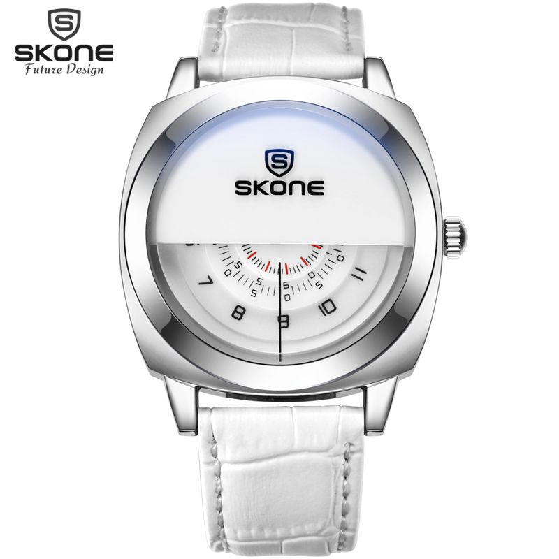 243f4ea622e SKONE Futuristic Luxury Men Women White Waterproof Fashion Casual Military  Quartz Hot Brand Sports Watches relogio masculino - Online Shopping for  Watches