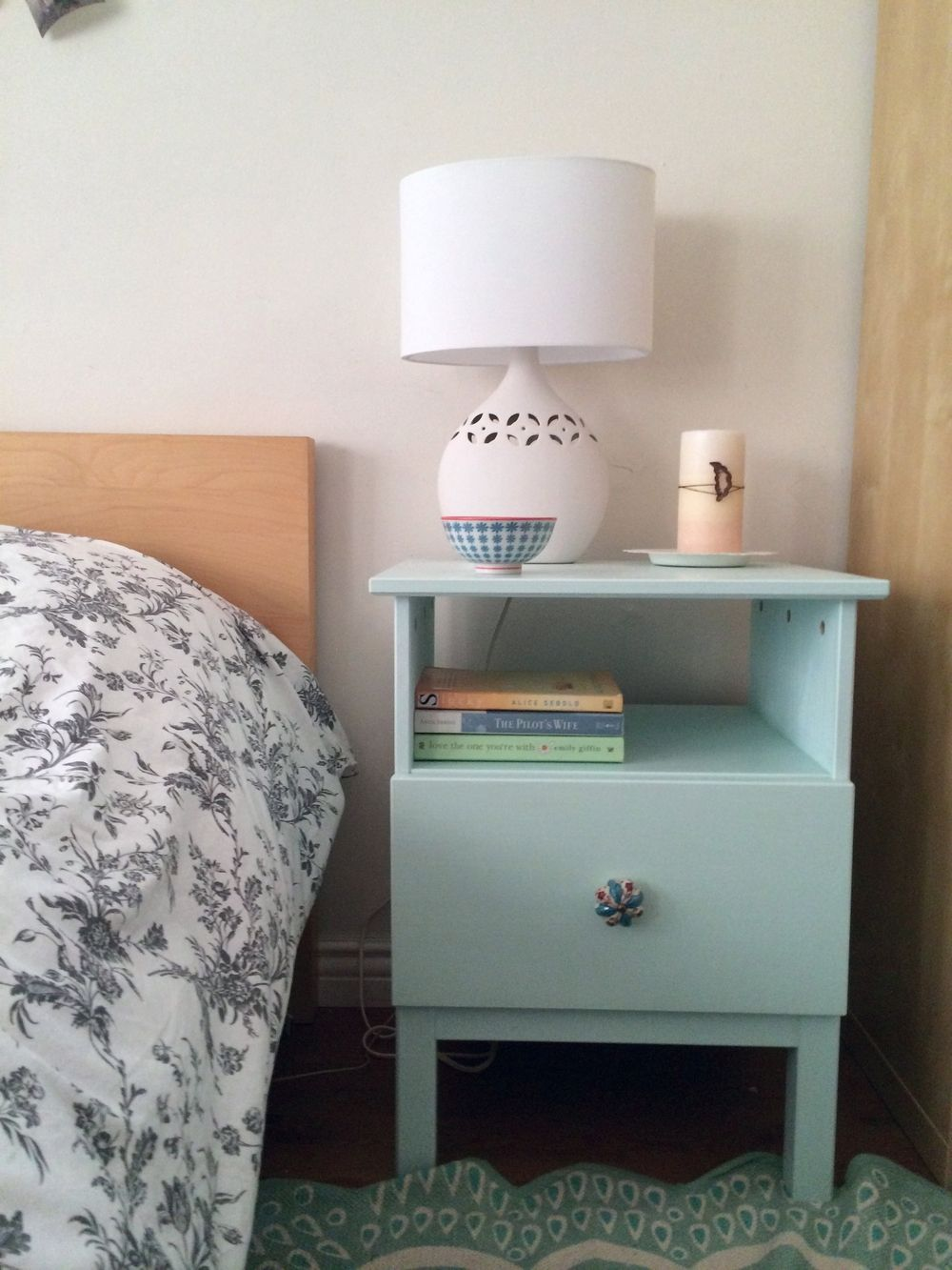 Ikea tarva nightstand hack dwelling pinterest for Ikea tarva hack de lit