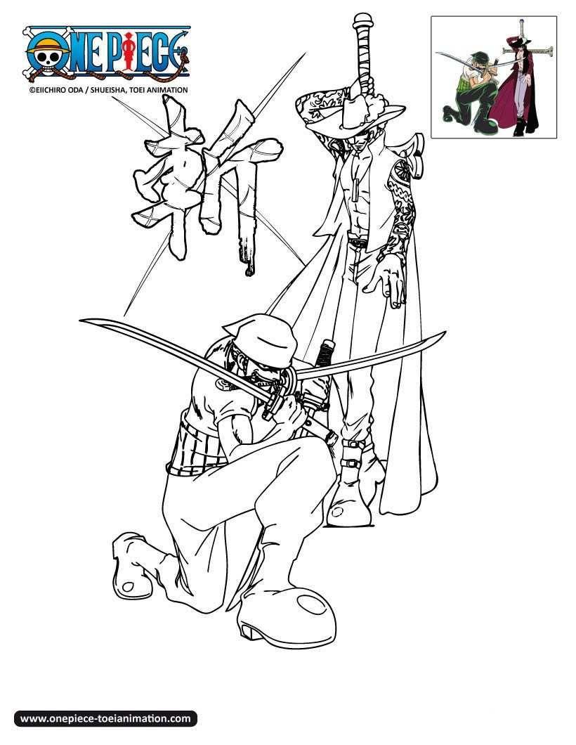 Coloriage One Piece A Imprimer Zoro 1747 One Piece Coloriage