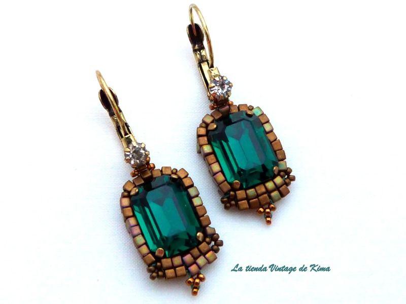 Popular algo bolso  Pendientes estilo vintage - esmeralda | Estilo vintage, Collar de color  turquesa y Pendientes