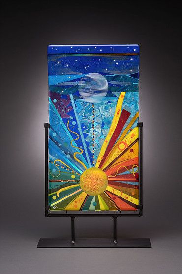 randie silverstein fused glass  panels