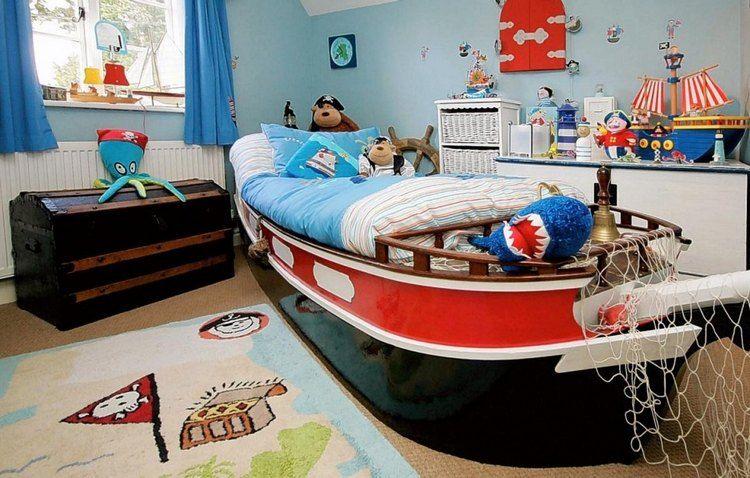 Déco chambre enfant pour garçon thème marin et voyages Pinterest