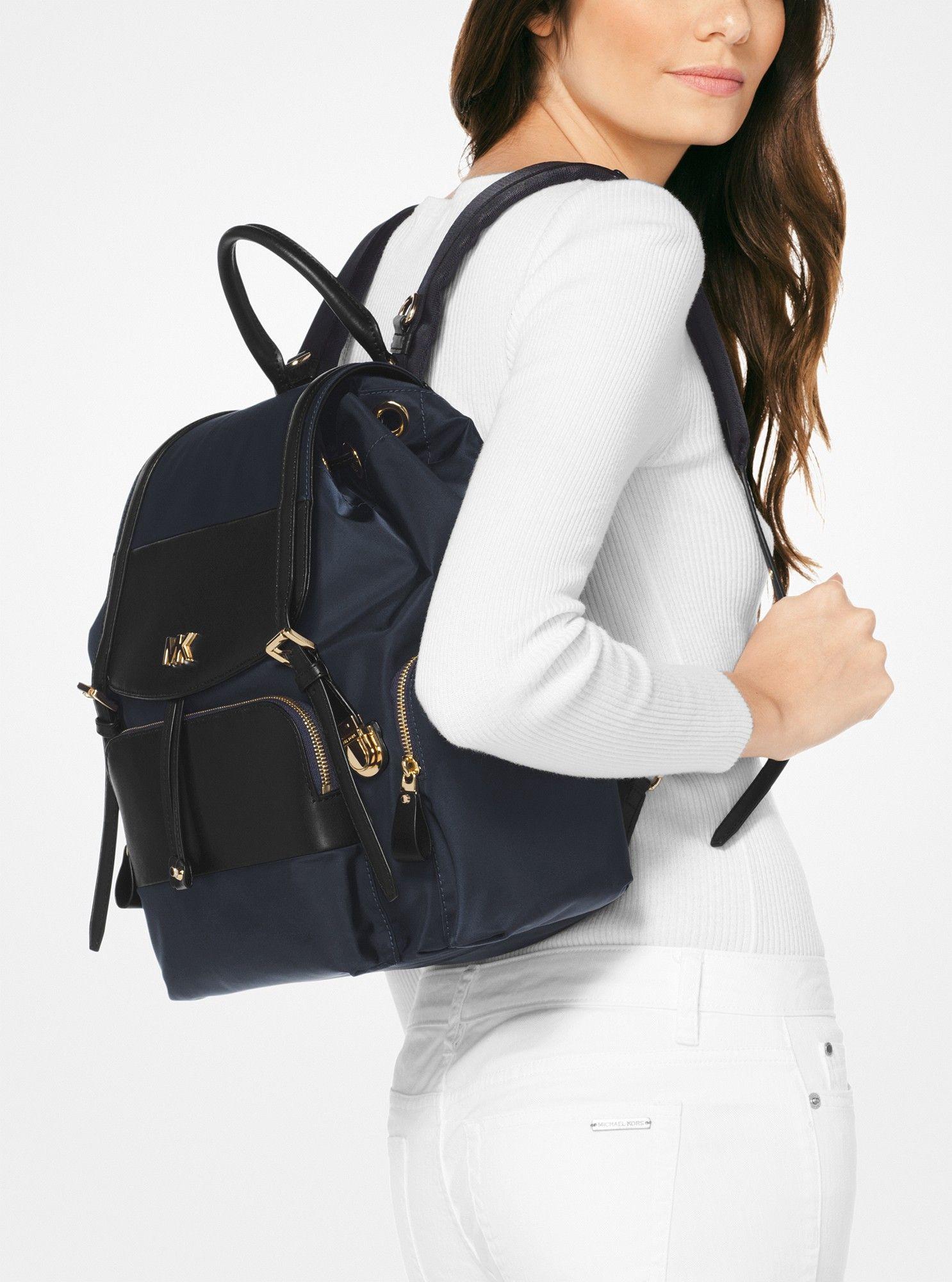 174d7e8e38ac Michael Kors Mott Large Nylon Diaper Backpack - Admiral Black
