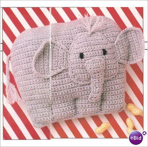 Crochet Pillow Pattern Baby Elephant Pillow