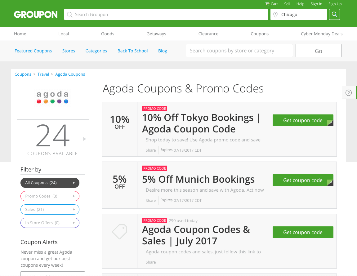 travel Savings Groupon Coupons  Store coupons Coupons