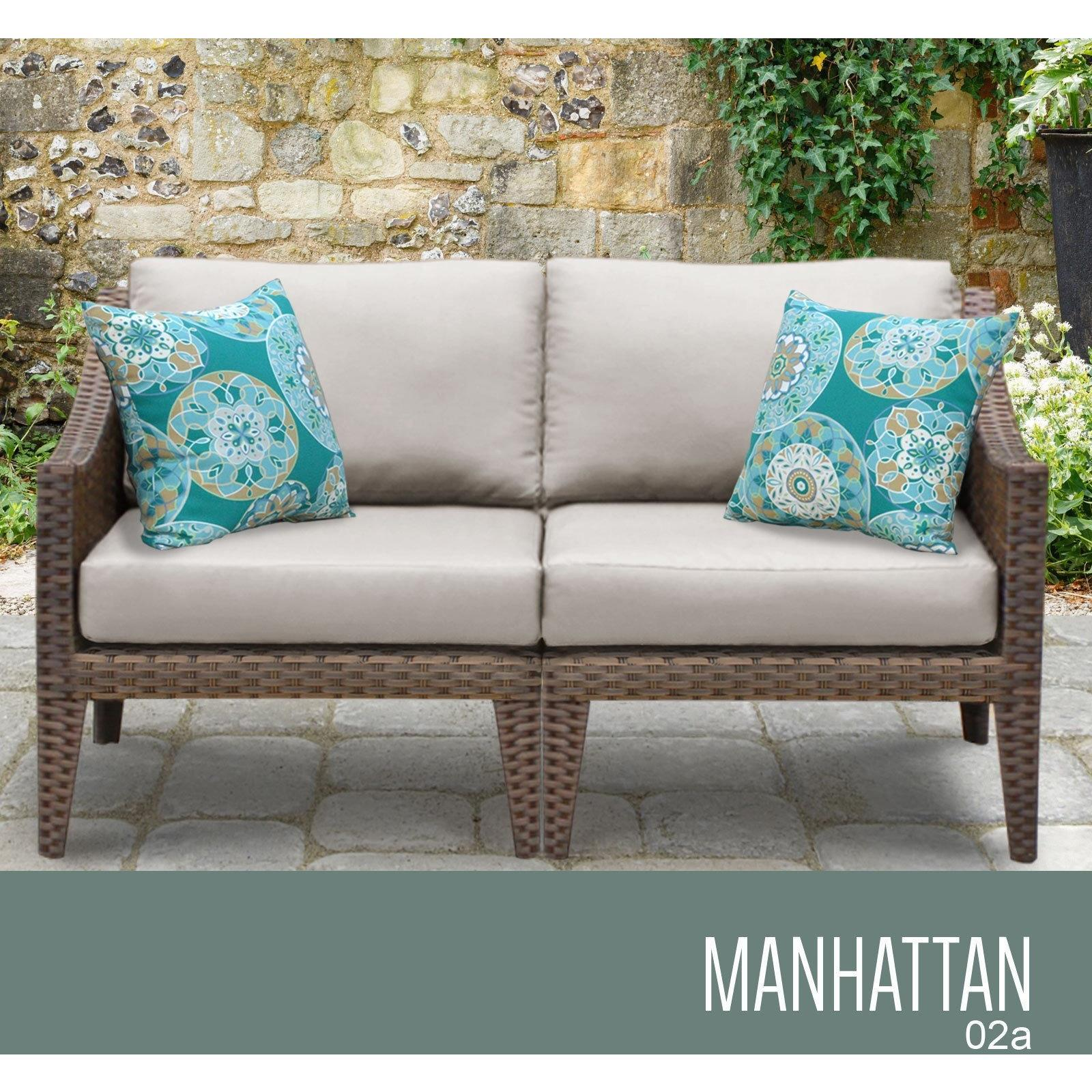 Manhattan 2 Piece Outdoor Wicker Patio Furniture Set 02a