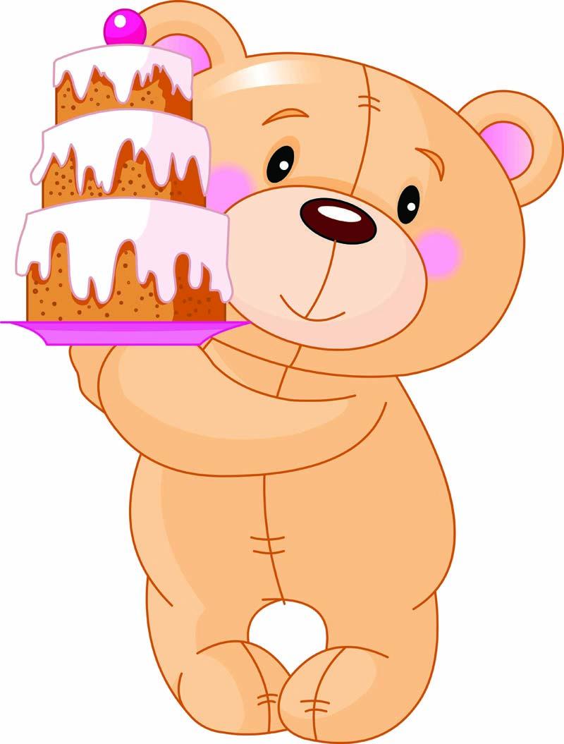 Illustration Of Cute Teddy Bear Bringing Birthday Cake Description From Dreamstime Com I Searched For Thi Birthday Cake Illustration Bear Vector Bear Cartoon