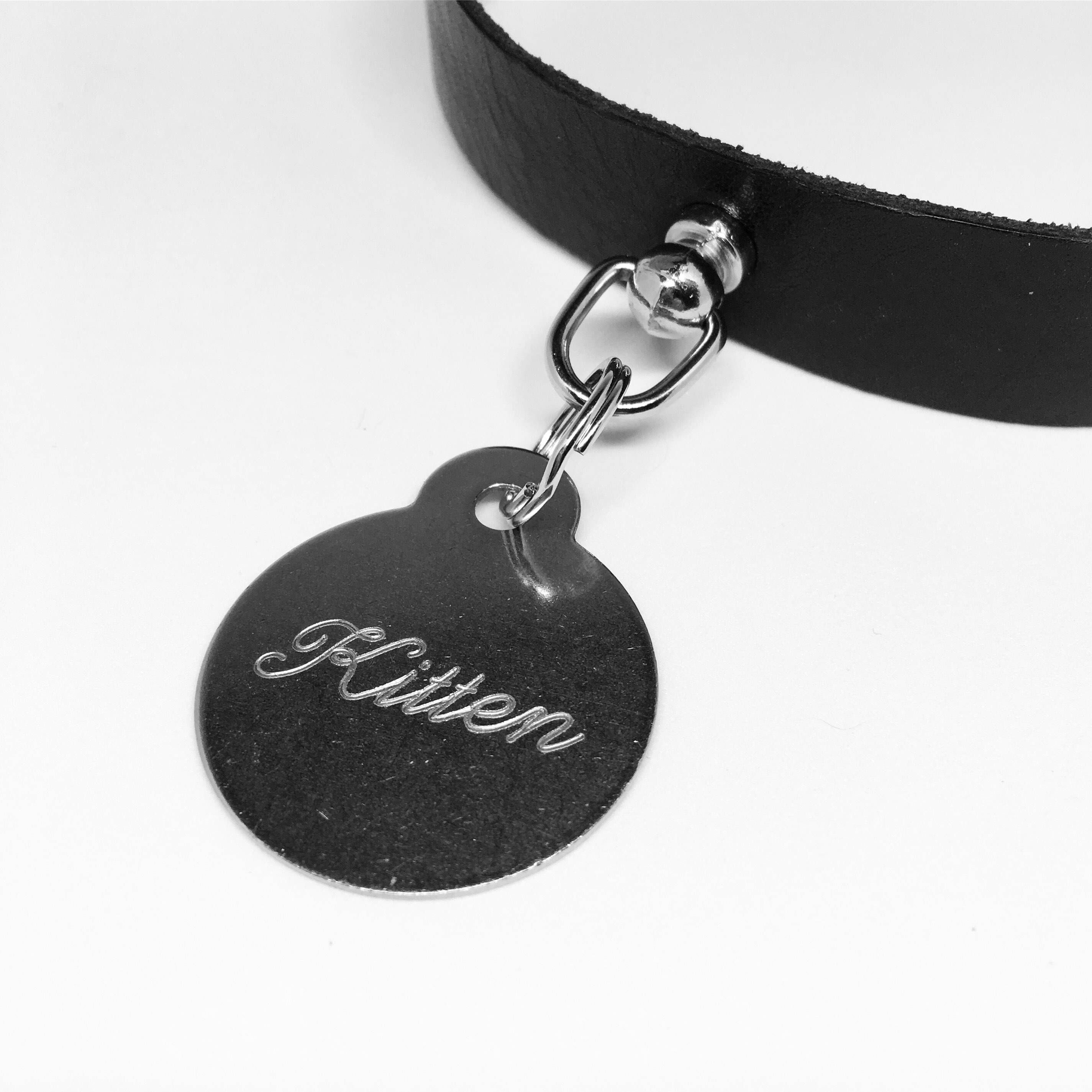 Kitten Collar Tag Pet Play Collar Tag Submissive Collar Tag Bdsm Day Collar Tag Ddlg Collar Charm