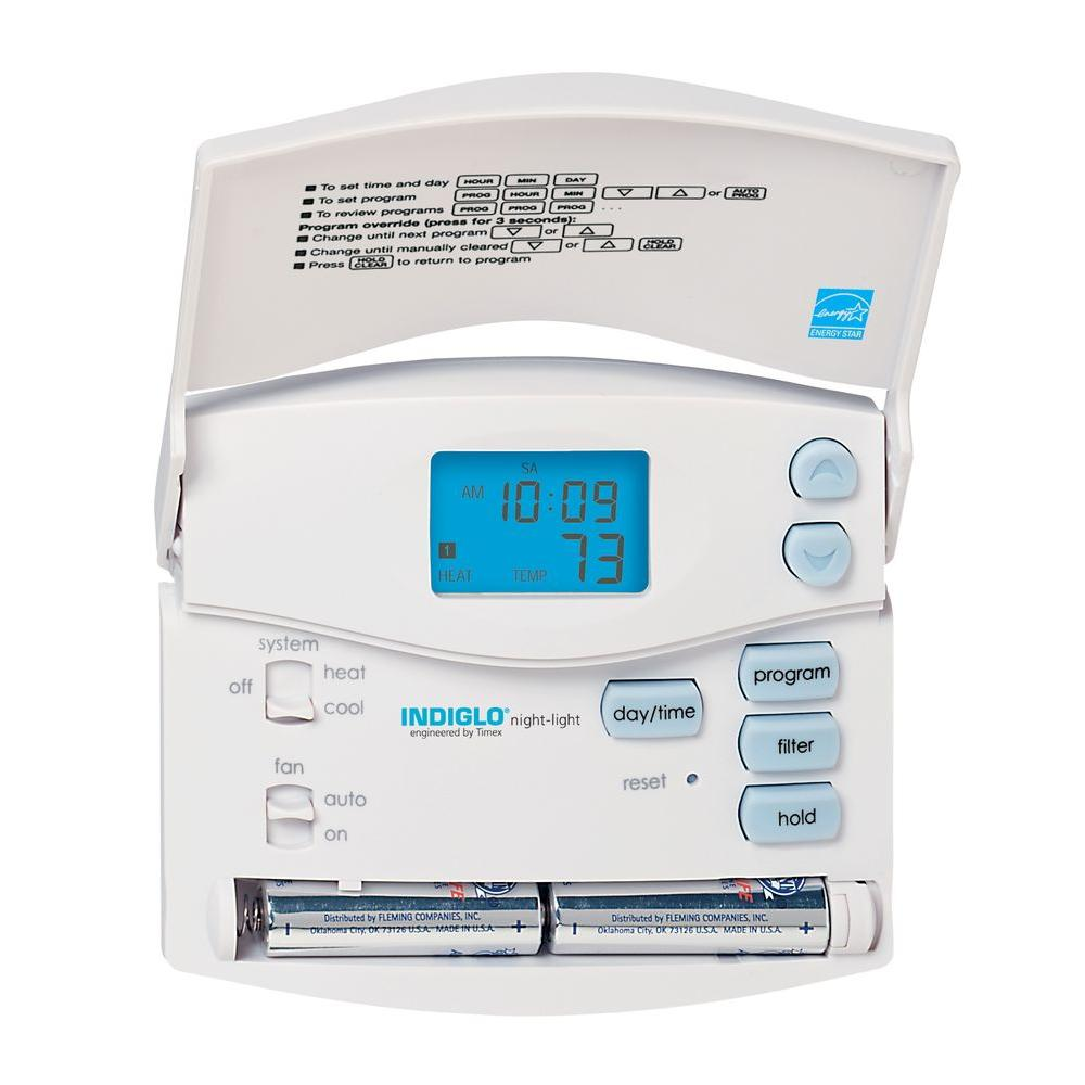 5 2 Day Digital Room Programmable Thermostat Whites