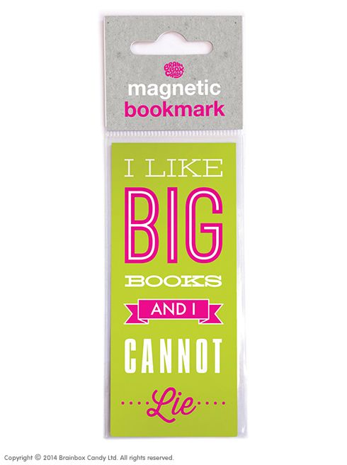 brainboxcandy.com - Big Books Magnetic Bookmark, £1.99 (http://www.brainboxcandy.com/big-books-magnetic-bookmark/)