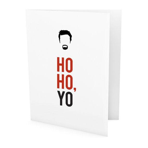 Jesse Pinkman Holiday Card Breaking Bad Funny Card Santa Claus Handmade Card Holiday Christmas Card Ho Ho Yo Breaking Bad Movie Prints Funny Cards