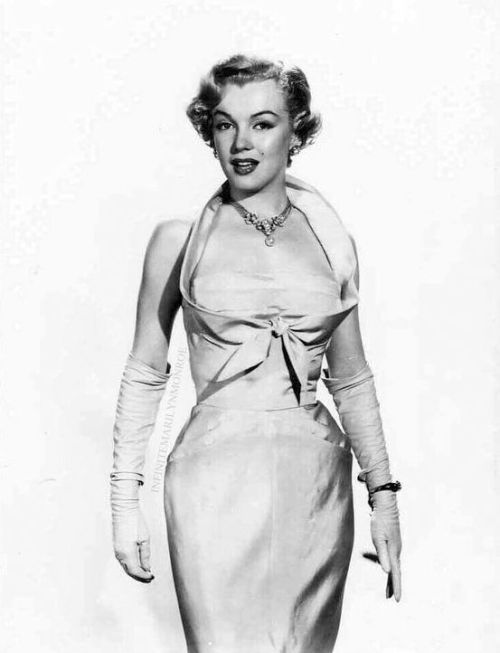 """Marilyn Monroe in a costume test for As Young As You Feel. """
