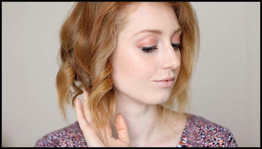 Locken Mit Dem Glätteisen Frisur Für Kurze Haare Advance Your