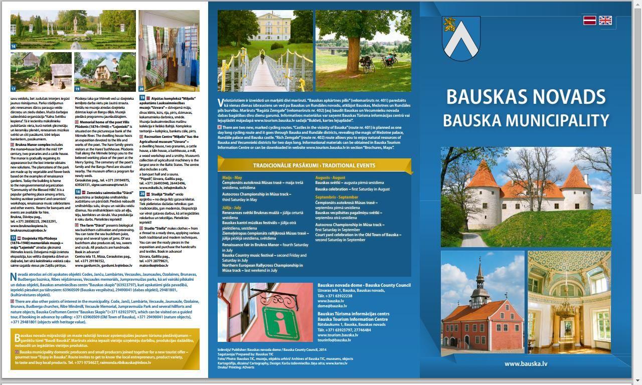 Brošūras, kartes - Info - tourism.bauska.lv/ Bauskas oficiālais tūrisma portāls