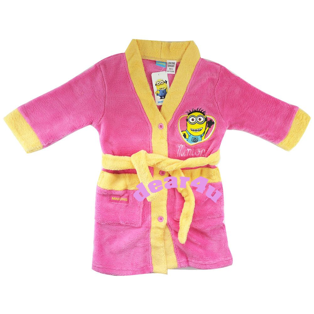 Pink Size 4 to 8 Despicable Me Girls Minion Nightgown Dress Pajama,100/% Polyester