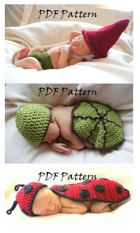3 PDF Pattern Bundle for Newborn Baby Photo Props by ...
