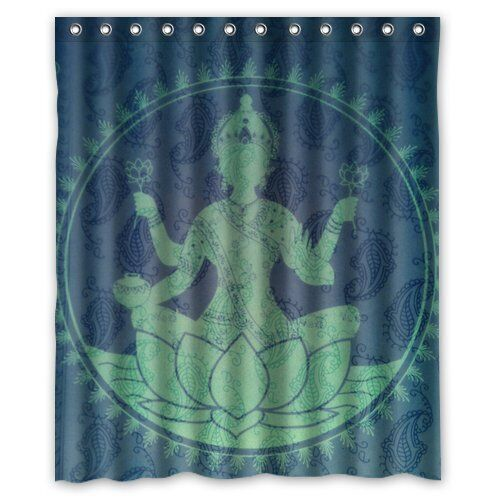 Custom Yoga Buddha Shower Curtain 60 X 72 Bathroom Decor