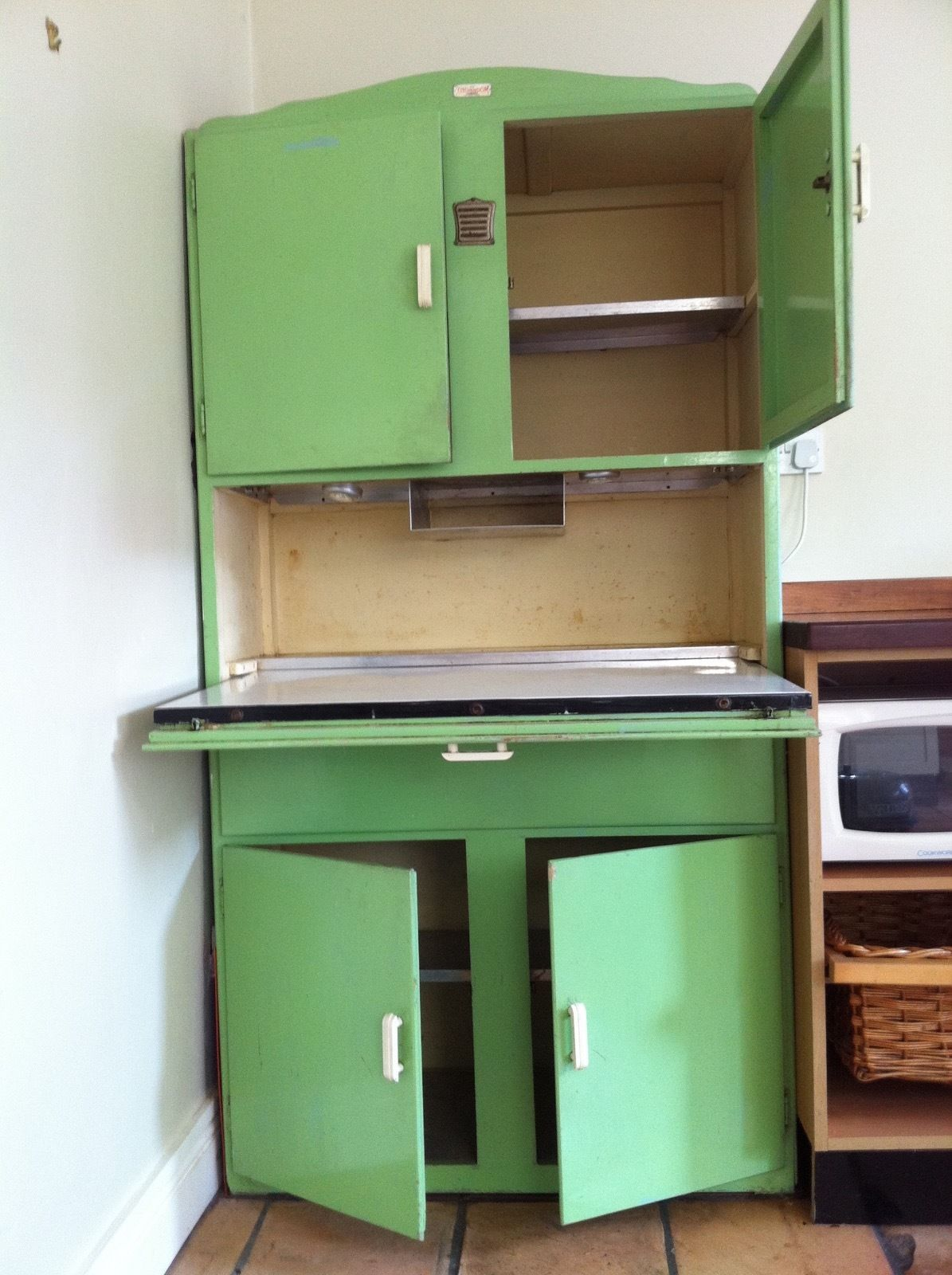 Original vintage retro 1940 50s kitchen cupboard larder pantry  unit kitchenette in. Shefco  Kitchenette Retro Classic Kitchen Cupboard Cabinet 1950s