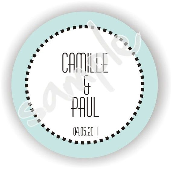 Personalized circle stickers Set of 4 sheets by MMGraphicDesigns, $24.00