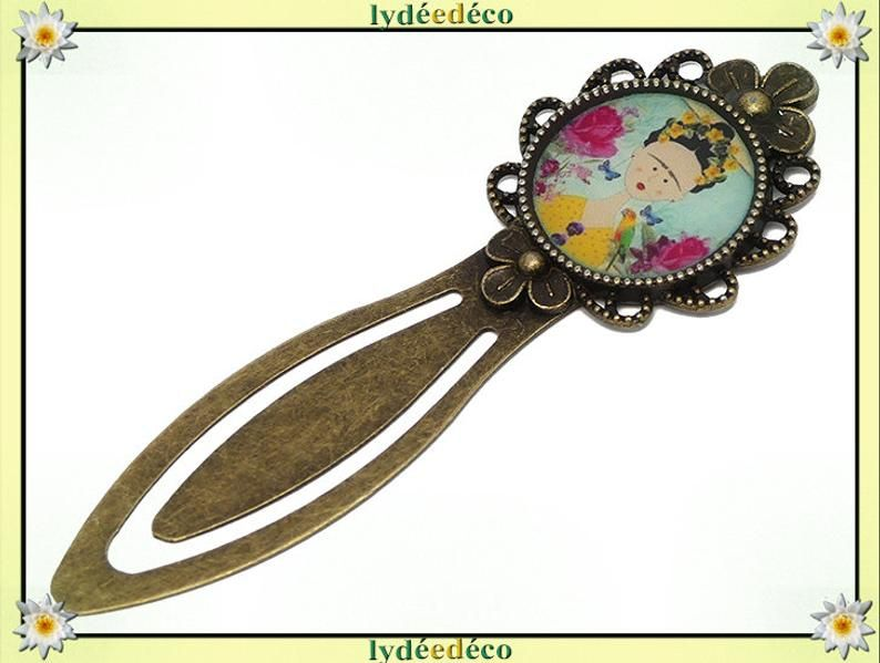 "marque page bronze /"" frida kahlo /"""