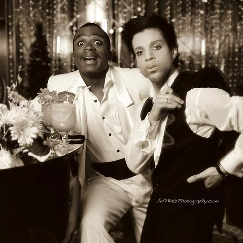 """Jerome + Prince rare photo by Jeff Katz used IN """"Under The Cherry Moon""""... if I remember correctly the photo is featured in a scene, I think it was the opening or closing scene... what an excuse though to see the movie AGAIN! Have fun finding it!"""