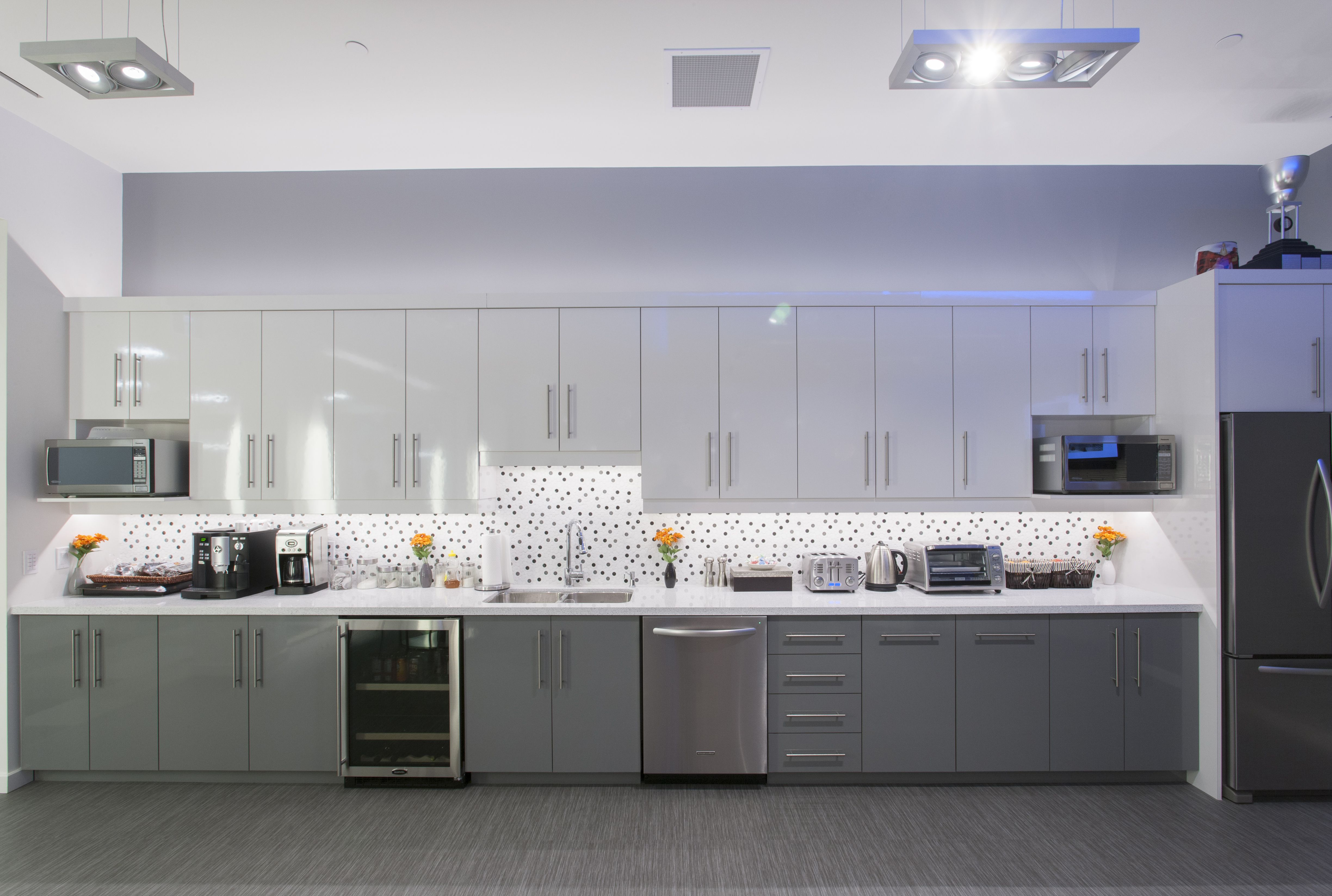 Kitchen area in the staff lounge. #workplace #interior #design ...
