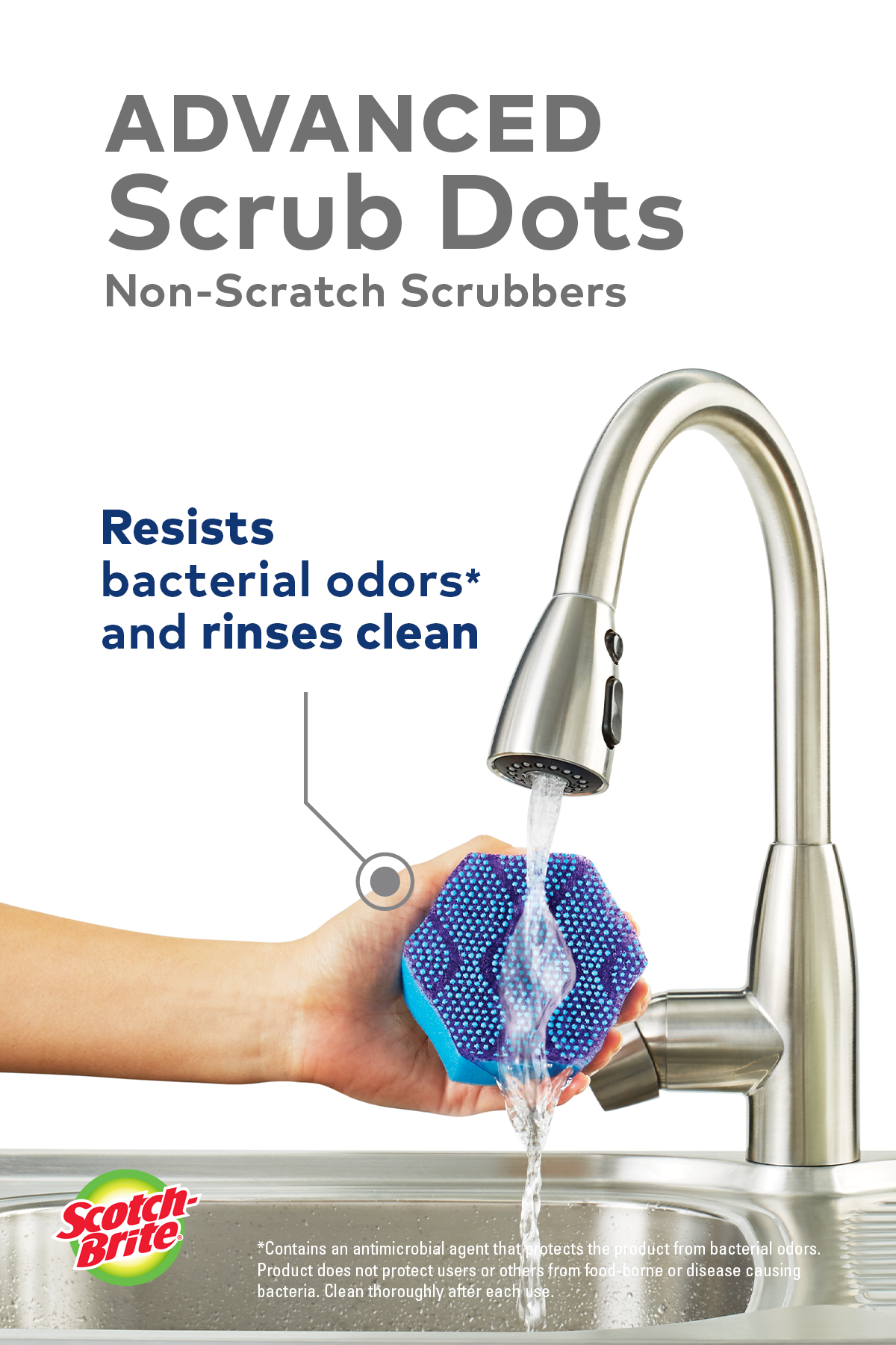 Scotch-Brite® Advanced Scrub Dots Non-Scratch Scru