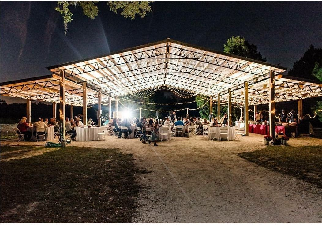 Nice covered space for an outdoor event. Outdoor