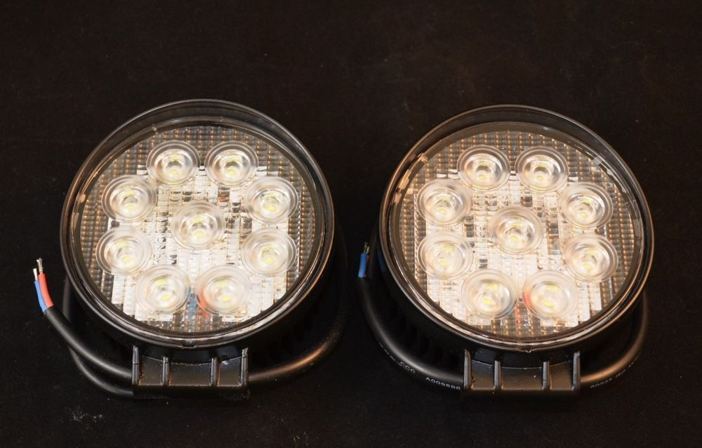 2x 27w Round 12v Led Flood Light Lamp Offroad Atv Snowmobile Truck Boat Trailer Led Flood Flood Lights Led Flood Lights