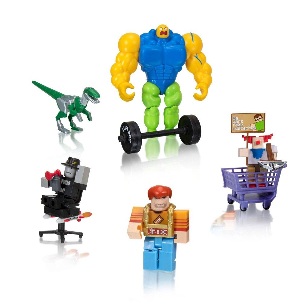 Roblox Action Collection Meme Pack Playset Includes Exclusive Virtual Item In 2020 Roblox Memes Popular Games