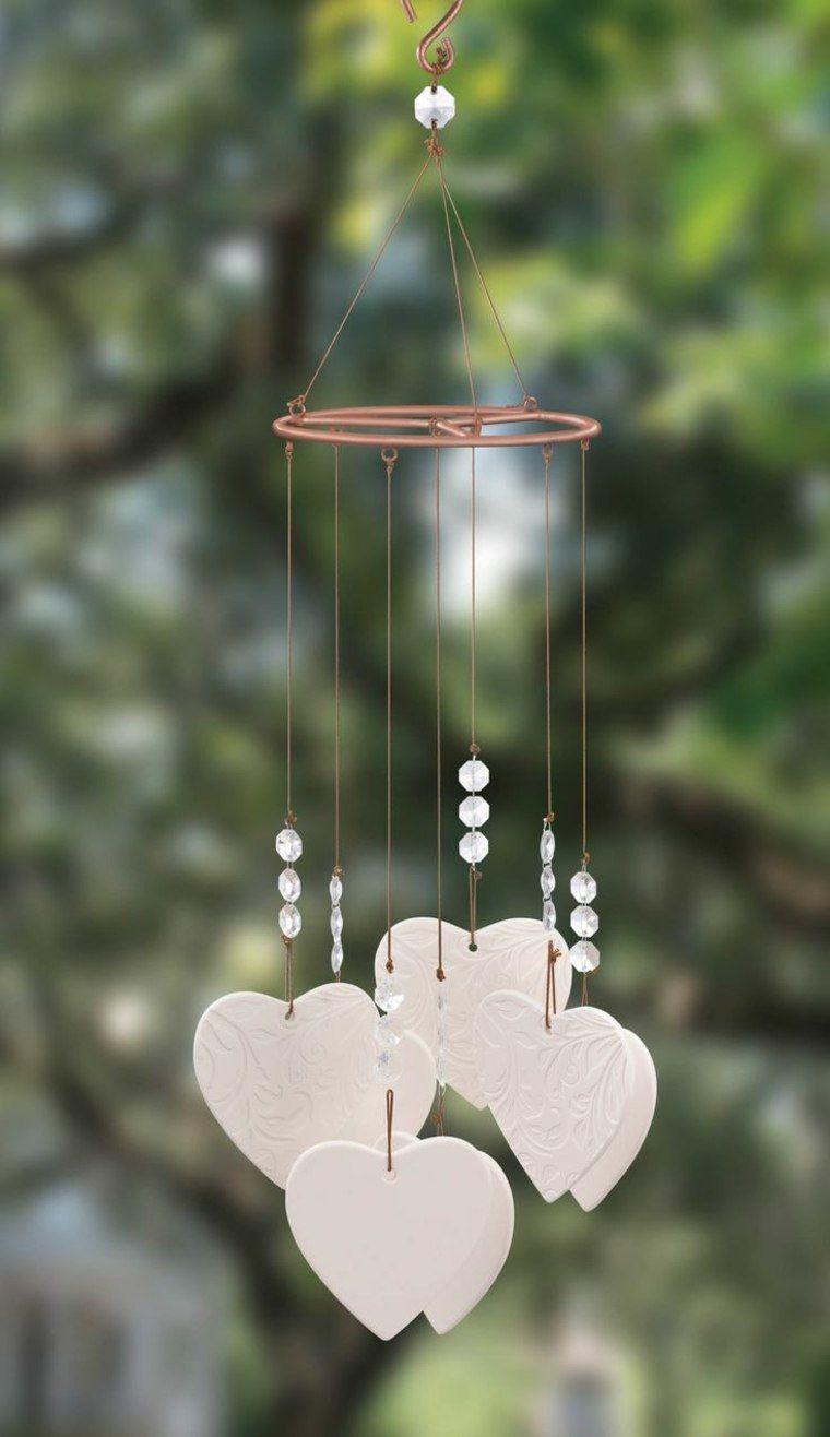 Idees Jardin Pour Un Espace Exterieur Plus Moderne Et Elegant Carillons Diy Deco Romantique Valentines Bricolage