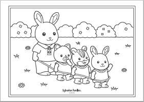 キャラクター ぬりえ無料シルバニアファミリー まとめ 赤ちゃん