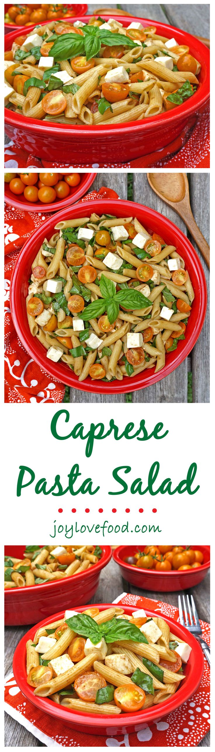 caprese pasta salad  joy love food  recipe  italian