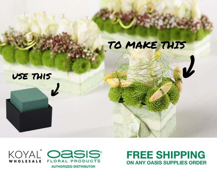 Premade DIY Wedding Floral Foam Vases For Centerpieces