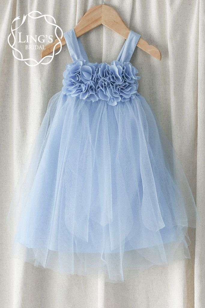 fcfb45bb9416 Pastel Periwinkle Blue Tutu Flower Girl Dress – Ling's Bridal ...
