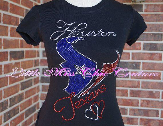 cb175c72d Houston Texans Bling Shirt Houston Texans Bling Shirt Style 5 by  LittleMissChicCoutur on Etsy