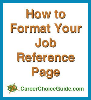 How To Format Your Job Reference List