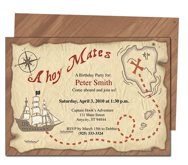 Free Printable Pirates Birthday Party Invitations