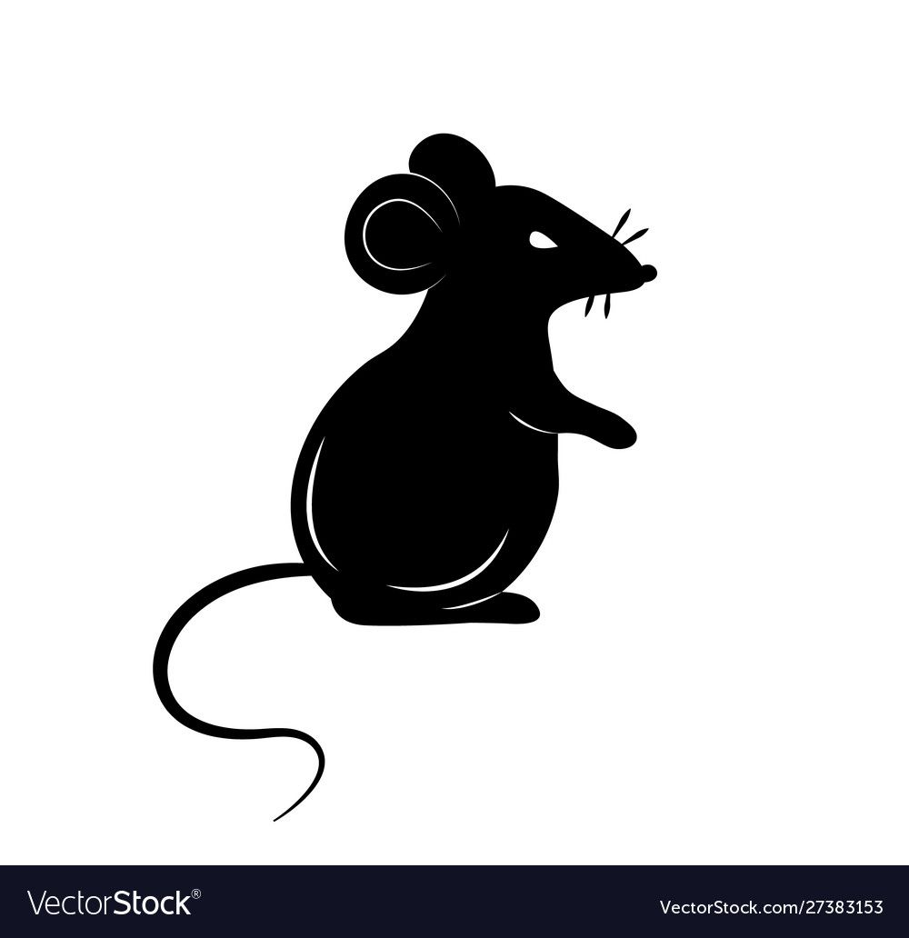Black Silhouette A Rat Or Mouse On A White Vector Image Affiliate Rat Silhouette Black Mouse Ad Rat Silhouette Banksy Rat Mouse Drawing