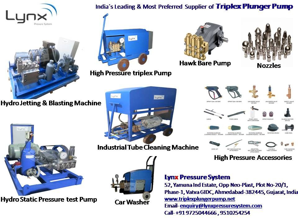 Triplexplungerpump Is A Positive Displacement Type Pump Where The Highpressure Seal Is Stationary And A Smooth Cylin Pressure Systems Water Jet High Pressure