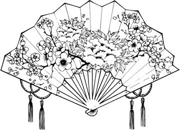 Japanese Fan Japanese Art Japanese Drawings Fan Drawing