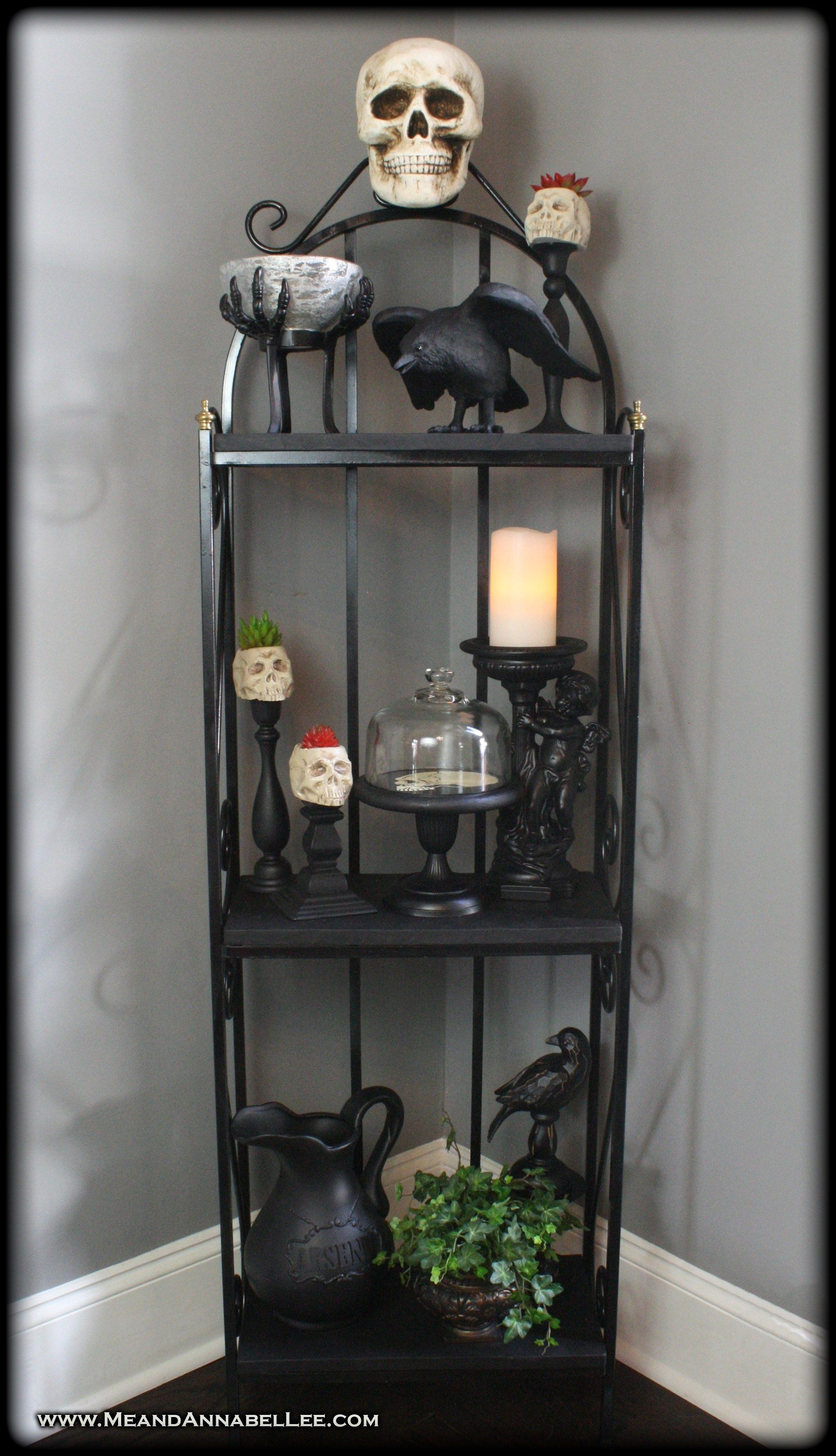 Diy Gothic Skull Baker S Rack Shelf Gothic Furniture Goth Home