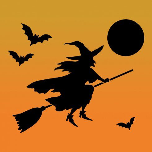 the flying witch stencil template is great for all sorts of small sized diy halloween decorations use our halloween craft stencils to decorate your - Halloween Design