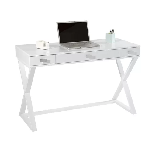 Nichol Writing Desk White Writing Desk White Desk Office Desk With Drawers